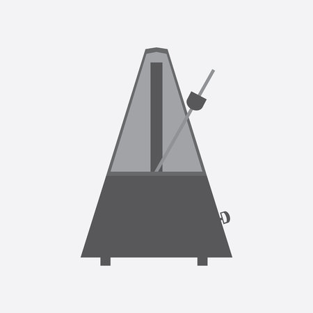 metronome: Metronome icon and vector. Illustration