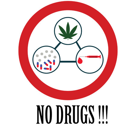 substance abuse: No drugs Icon and vector.
