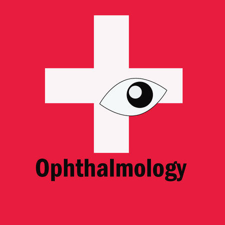optician: Optician vector logo. Ophthalmology Icon Illustration