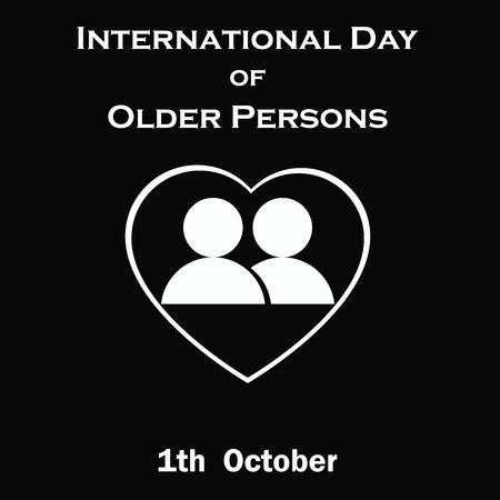 older: International Day of Older Persons. Illustration