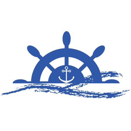 Marine icon.Nautical logo.Sea wave logo for maritime companies.