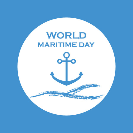maritime: National Maritime Day with anchor