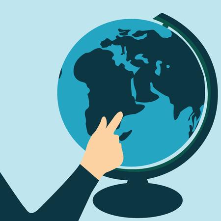 Vector illustration World Tourism day.Globe vector.