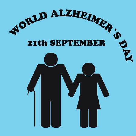 World Alzheimers day.Illustration of the Alzheimers Disease Illustration