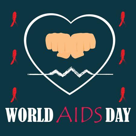 aids virus: World AIDS Day. Vector illustration.
