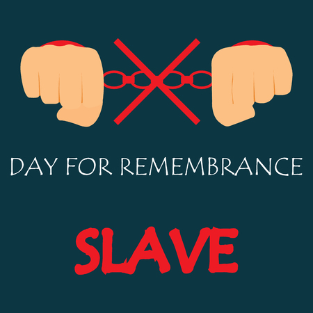 abolition: Vector illustration of International Day for the Remembrance of the Slave Trade and Its Abolition.