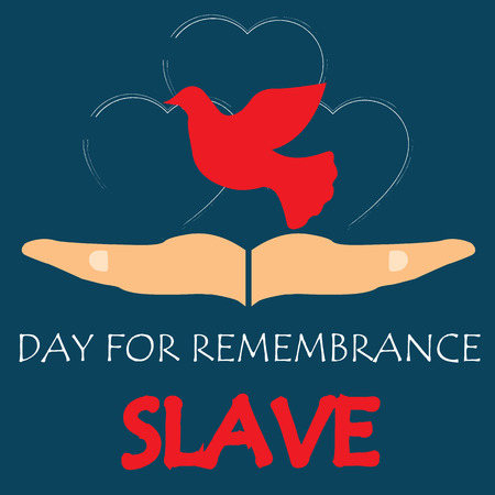 crime prevention: Vector illustration of International Day for the Remembrance of the Slave Trade and Its Abolition.