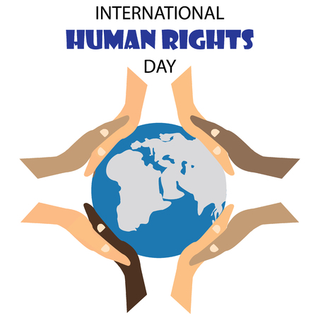 derechos humanos: Vector illustration of Human Rights Day background.