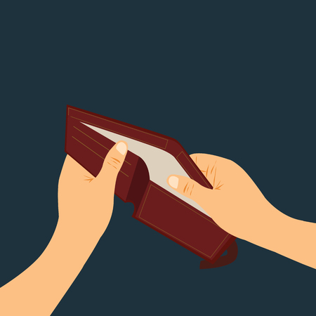 Empty wallet, broke vector Illustration design concept