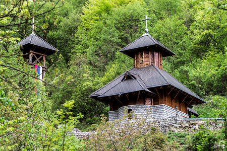 a beautiful Orthodox church in the forest - Solotusa, Serbia