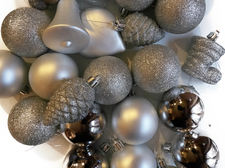 Shot of some decorations commonly used to adorn Christmas trees