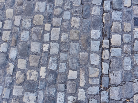 View of the pattern of and old street in Annecy city center Standard-Bild - 117773180