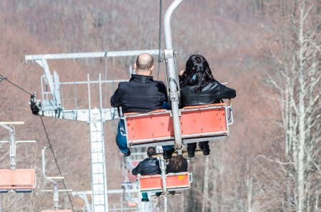 chairlift: couple on the chairlift