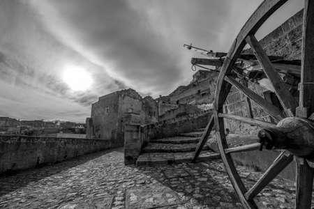 matera: black and white Matera Stock Photo