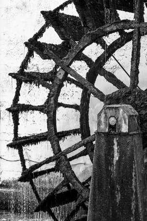 molino de agua: rueda de molino