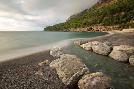 maratea: quiet and relax on the beach Stock Photo