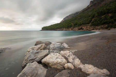 maratea: winter beach in southern italy quiet and cloudy Stock Photo