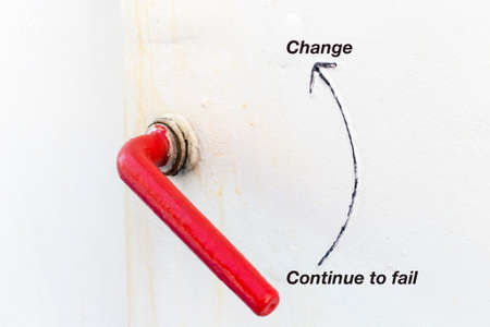 lever: red lever - change for a chance to success