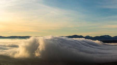 lucania: cloud formation like a sea wave