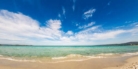 gash: ultrawide view of wondrful beach in sardinia