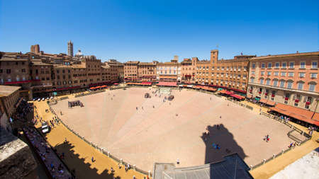 day before palio in the nmangia square