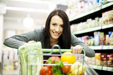 Woman at supermarket photo