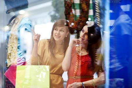 retail scenes: Best friends shopping
