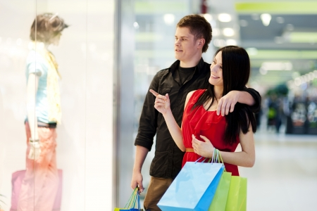 Young couple during shopping Stock Photo - 18161101