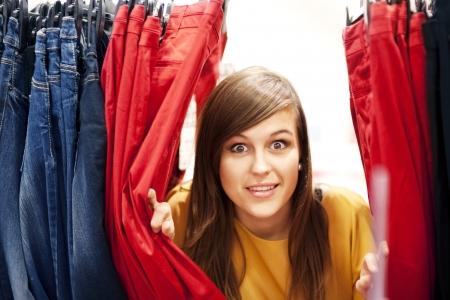 hide and seek: Hide and seek at clothing store