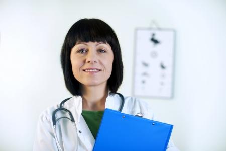 Female doctor smiling photo