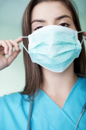 Young doctor wearing a mask Stock Photo - 18182505