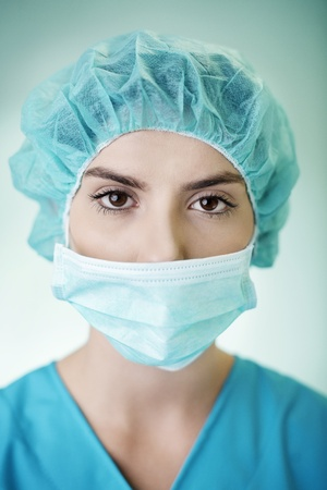 Portrait of young female surgeon Stock Photo - 18182503