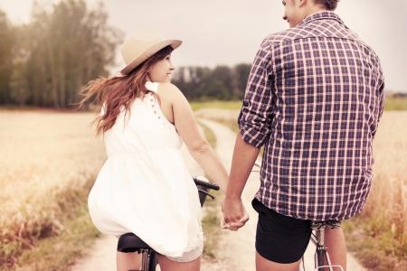 retro couple: Romantic date