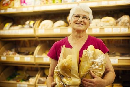 bakery store: Fresh baked bread