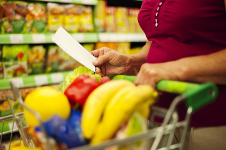 Close-up of shopping list photo