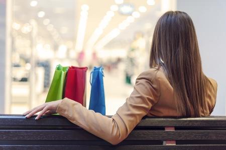 Shopping break Stock Photo