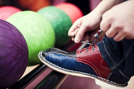bowling alley: Ready to play Stock Photo