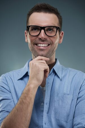 Portrait of handsome man in glasses Stock Photo - 18191020