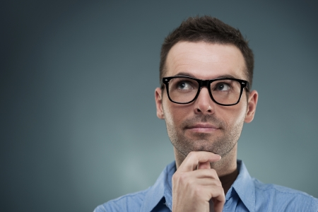 Thoughtful handsome male Stock Photo - 18191016