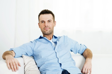Portrait of relaxed man at home Stock Photo - 18190858