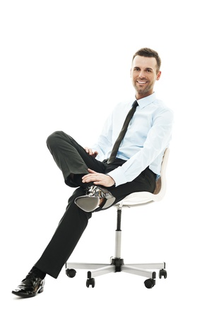 sitting chair: Relaxation time Stock Photo