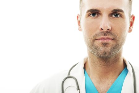 Close-up of a handsome male doctor Stock Photo - 18190791