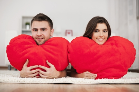 Couple with big hearts Stock Photo - 18190770