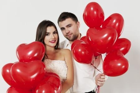 flirting: Portrait of loving couple