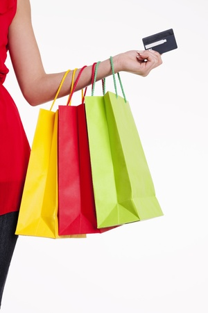 Shopping bags and credit card Stock Photo - 18208183