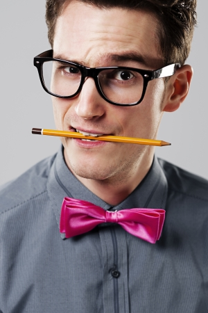 Handsome nerd Stock Photo - 18422295