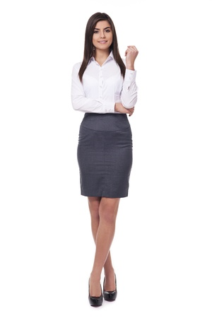 businesswoman skirt: Attractive young businesswoman