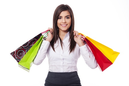 Businesswoman on shopping photo