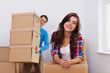 Time to moving in new home Stock Photo - 18880691