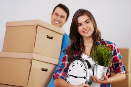 Young couple moving in their home Stock Photo - 18880736